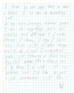 Diary Entry by V